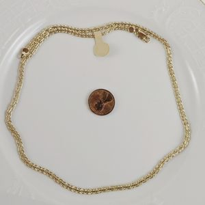 """Vintage 14kt Gold Plated Double Weave 20"""" Necklace"""
